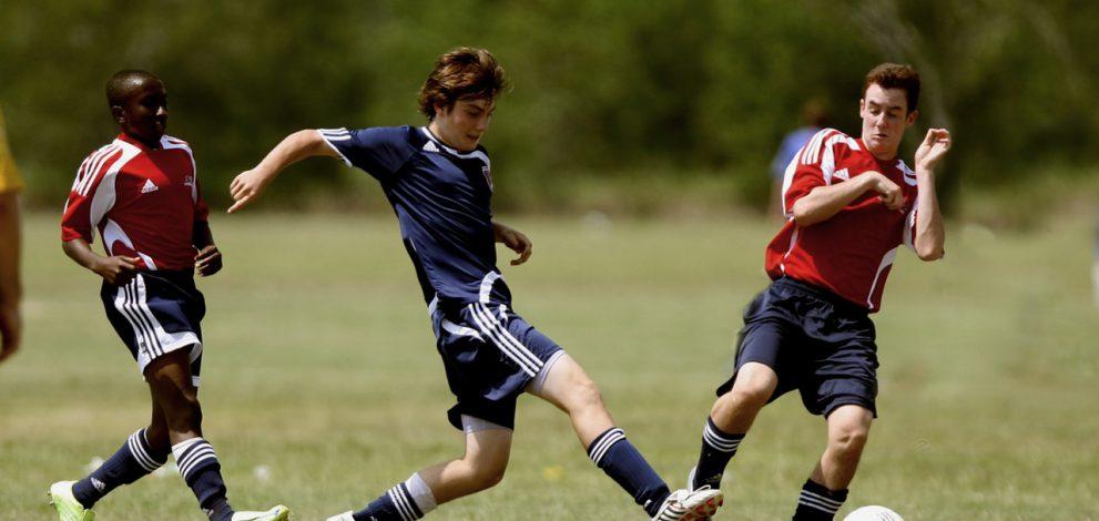 Fodboldkamp i gang